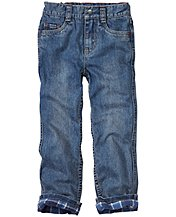 Flannel Lined Straight Leg Jeans