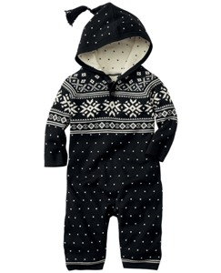 Snowy Sweden Sweater Romper
