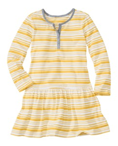 Stripey Henley Dress