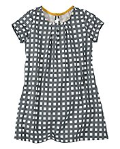 Windowpane Tunic Dress