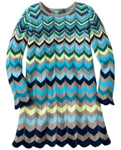 Flamestitch Sweater Dress