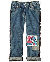 Ribbons & Patches Boyfriend Jeans