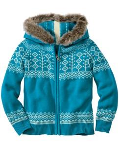 Fur Trim Sweater Hoodie