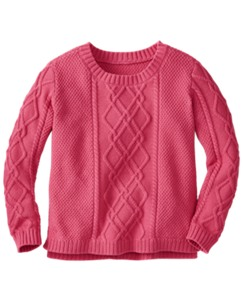 Chunky Cableknit Sweater by Hanna Andersson