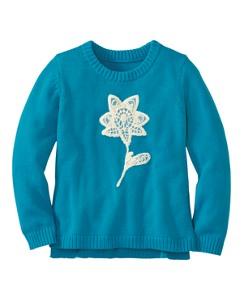 Tulle Trim Sweater