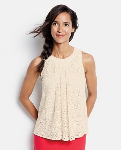 Sleeveless Lace Blouse