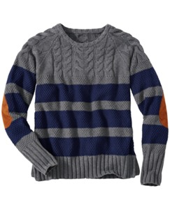 Stripe Cable Sweater