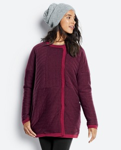 Quilted Merino Sweater Coat