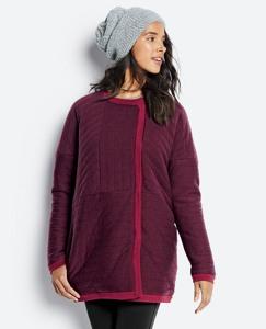 Quilted Merino Sweater Coat