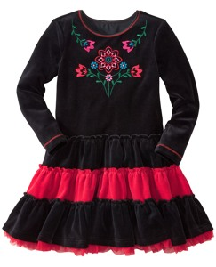Velour Tutu Twirl Dress