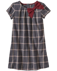 Windowpane Dress In Soft Flannel
