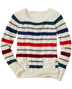 Stripey Pocket Sweater