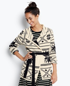 Fair Isle Wrap Sweater