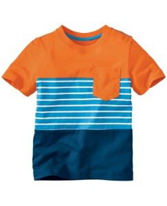 Stripe + Colorblock Pocket Tee by Hanna Andersson