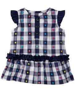 Gingham Dot Tunic Dress