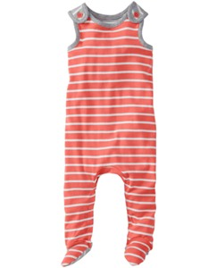 Little Rompers With Feet In Organic Cotton