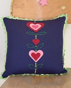 Appliqué Heart Pillow