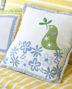Partridge Pillow by Hanna Andersson