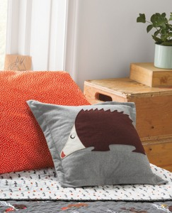 Felted Hedgehog Pillow by Hanna Andersson