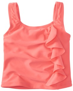 Ruffle Around Tankini Top