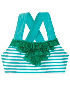 Ruffly Crossback Swim Top