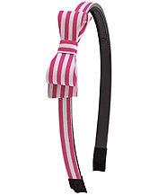 Stripey Bow Headband
