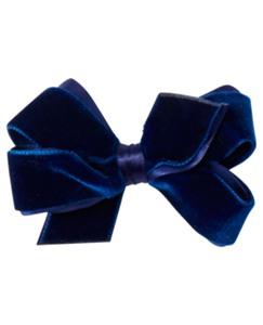 Velvet Bow Clip