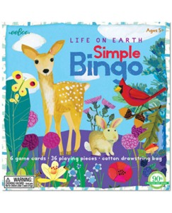 Life On Earth Simple Bingo Game