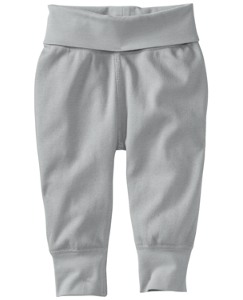 Foldover Waist Wiggle Pant In Organic Cotton