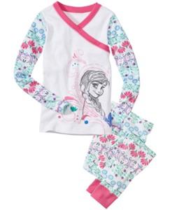 Disney Frozen Anna Long John Pajamas In Organic Cotton