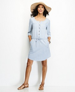 Washed Ticking Stripe Shirtdress