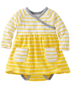Stripe Happy Crossover Dress Set