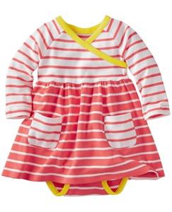 Stripe Happy Crossover Dress Set