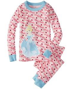 Disney Princess Long John Pajamas In Organic Cotton