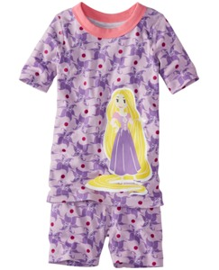 Disney Princess Short John Pajamas In Organic Cotton