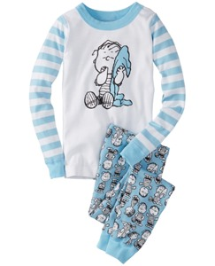 Peanuts Long John Pajamas In Organic Cotton