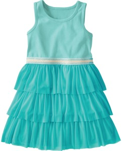 Swish Dress With Tulle Tiers