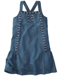 Crossback Chambray Sundress