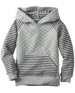 Quilted Hoodie Sweatshirt