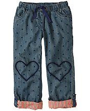 Heart Patch Roller Pants