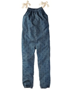 Dot Chambray Jumpsuit
