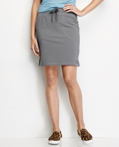 Straight Skirt In French Terry