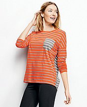 Stripe Mix Pima Tee