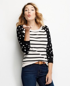 Hearts & Stripes Sweater