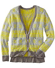 Swedish Modern Jacquard Cardigan