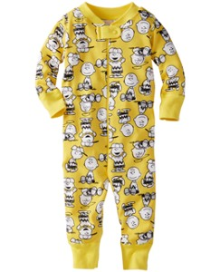 Peanuts Baby Sleeper In Pure Organic Cotton