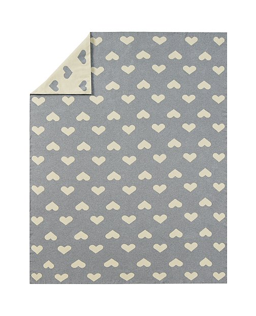 Reversible Double Heart Throw by Hanna Andersson