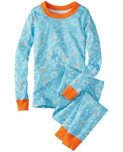 Disney Frozen Long John Pajamas In Organic Cotton