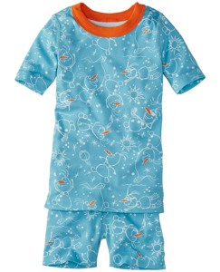 Disney Frozen Short John Pajamas In Organic Cotton