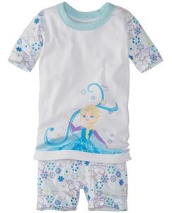 Disney Frozen Short John Pajamas In Organic Cotton